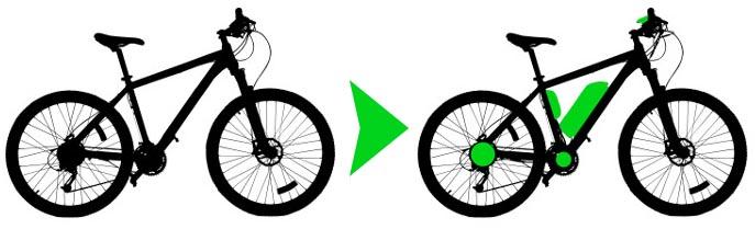 Transformation d'un vélo en vélo électrique